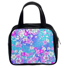 Colorful Pastel Flowers  Classic Handbags (2 Sides) by Brittlevirginclothing