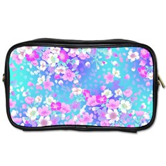 Colorful Pastel Flowers  Toiletries Bags 2 Side by Brittlevirginclothing