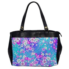 Colorful Pastel Flowers  Office Handbags by Brittlevirginclothing
