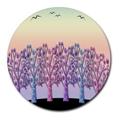 Magical Hill Round Mousepads by Valentinaart