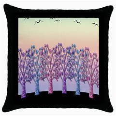 Magical Hill Throw Pillow Case (black) by Valentinaart