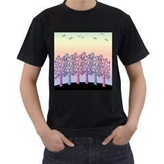 Magical Hill Men s T Shirt (black) (two Sided) by Valentinaart