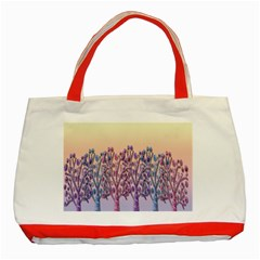 Magical Hill Classic Tote Bag (red) by Valentinaart