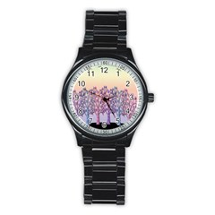 Magical Hill Stainless Steel Round Watch by Valentinaart