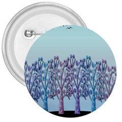 Blue Magical Hill 3  Buttons by Valentinaart