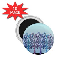 Blue Magical Hill 1 75  Magnets (10 Pack)  by Valentinaart