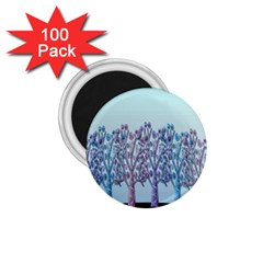 Blue Magical Hill 1 75  Magnets (100 Pack)  by Valentinaart