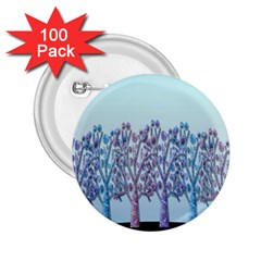 Blue Magical Hill 2 25  Buttons (100 Pack)  by Valentinaart