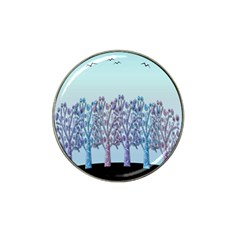 Blue Magical Hill Hat Clip Ball Marker (4 Pack) by Valentinaart