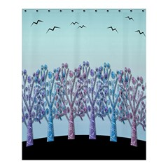 Blue Magical Hill Shower Curtain 60  X 72  (medium)  by Valentinaart