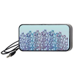 Blue Magical Hill Portable Speaker (black)  by Valentinaart