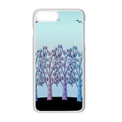Blue Magical Hill Apple Iphone 7 Plus White Seamless Case by Valentinaart