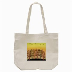 Magical Sunset Tote Bag (cream) by Valentinaart