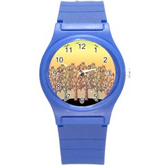 Magical Sunset Round Plastic Sport Watch (s) by Valentinaart