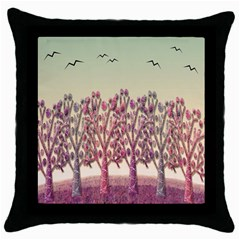 Magical Landscape Throw Pillow Case (black) by Valentinaart