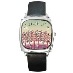 Magical Landscape Square Metal Watch by Valentinaart