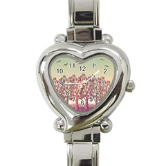Magical Landscape Heart Italian Charm Watch by Valentinaart
