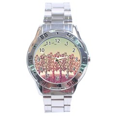 Magical Landscape Stainless Steel Analogue Watch by Valentinaart