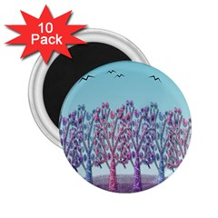 Blue Magical Landscape 2 25  Magnets (10 Pack)  by Valentinaart
