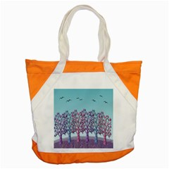 Blue Magical Landscape Accent Tote Bag by Valentinaart