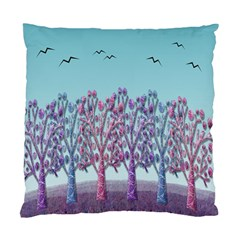 Blue Magical Landscape Standard Cushion Case (one Side) by Valentinaart