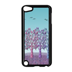 Blue Magical Landscape Apple Ipod Touch 5 Case (black) by Valentinaart
