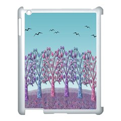 Blue Magical Landscape Apple Ipad 3/4 Case (white) by Valentinaart