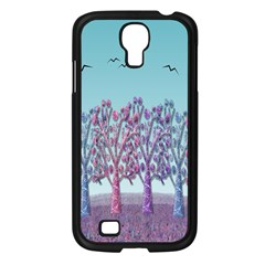Blue Magical Landscape Samsung Galaxy S4 I9500/ I9505 Case (black) by Valentinaart