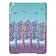 Blue Magical Landscape Ipad Air Hardshell Cases by Valentinaart