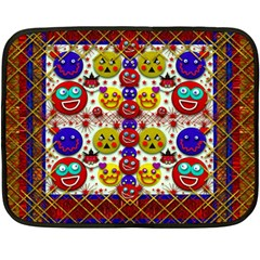 Smile And The Whole World Smiles  On Double Sided Fleece Blanket (mini)  by pepitasart