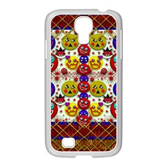 Smile And The Whole World Smiles  On Samsung Galaxy S4 I9500/ I9505 Case (white) by pepitasart