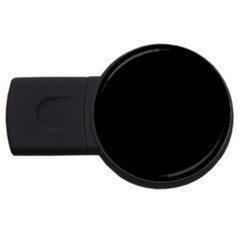Simple Black Usb Flash Drive Round (2 Gb)  by Valentinaart