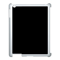 Simple Black Apple Ipad 3/4 Case (white) by Valentinaart