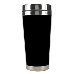 Simple Black Stainless Steel Travel Tumblers by Valentinaart