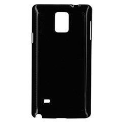 Simple Black Samsung Galaxy Note 4 Case (black) by Valentinaart
