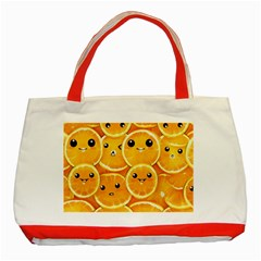 Cute Orange  Classic Tote Bag (red) by Brittlevirginclothing