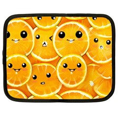 Cute Orange  Netbook Case (large) by Brittlevirginclothing