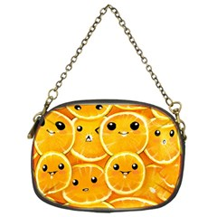 Cute Orange  Chain Purses (one Side)  by Brittlevirginclothing