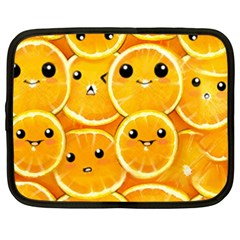 Cute Orange  Netbook Case (xxl)  by Brittlevirginclothing