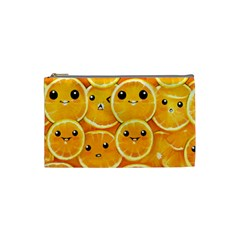 Cute Orange  Cosmetic Bag (small)  by Brittlevirginclothing