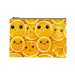Cute Orange  Cosmetic Bag (large)  by Brittlevirginclothing