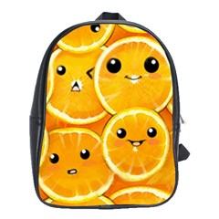 Cute Orange  School Bags(large)  by Brittlevirginclothing