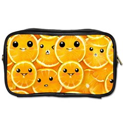 Cute Orange  Toiletries Bags by Brittlevirginclothing