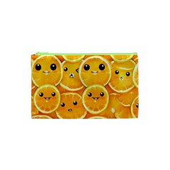 Cute Orange  Cosmetic Bag (xs) by Brittlevirginclothing