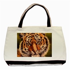 Tiger Cub Basic Tote Bag (two Sides)
