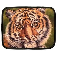 Tiger Cub Netbook Case (large) by ArtByThree