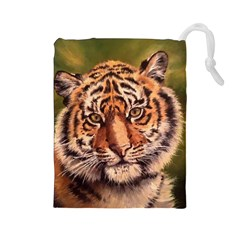 Tiger Cub Drawstring Pouches (large)