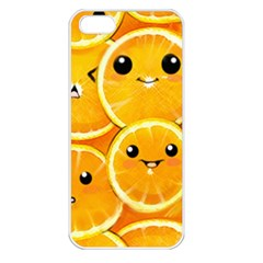 Cute Orange  Apple Iphone 5 Seamless Case (white) by Brittlevirginclothing