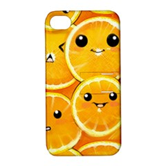 Cute Orange  Apple Iphone 4/4s Hardshell Case With Stand by Brittlevirginclothing
