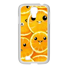 Cute Orange  Samsung Galaxy S4 I9500/ I9505 Case (white) by Brittlevirginclothing